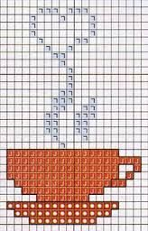 This Pin was discovered by Dey Cross Stitch Beginner, Easy Cross Stitch Patterns, Cross Stitch Designs, Cross Stitch Kitchen, Mini Cross Stitch, Simple Cross Stitch, Cross Stitching, Cross Stitch Embroidery, Bordado Tipo Chicken Scratch