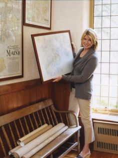 Entire article on decorating with Maps from Martha Stewart.  Great article with many photo albums for inspiration that you can click through.