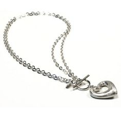 Featuring a double sterling silver chain design, a t-bar fasten and an elegant heart pendant. Wherever you go, go with all your heart. Think Positive! Made in Italy. Sterling Silver Heart Necklace, Sterling Silver Necklaces, Silver Earrings, Wholesale Silver Jewelry, Jewelry Website, Christian Jewelry, Pendant Necklace, Italy, Women's Necklaces