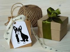 French Bull Dog Olive Wood Stamp by ahueofduckeggblue on Etsy, $9.50