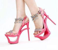 Princess Sandal High-Heeled Lady Platform Diamond Shoes   http://hisandherfashion.com/collections/women-shoes/products/princess-sandal-high-heeled-lady-platform-diamond-shoes