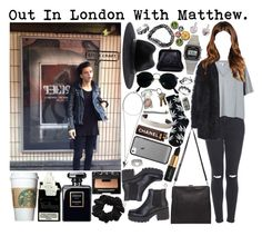 Out In London With Matty. by tytityn on Polyvore featuring polyvore fashion style Acne Studios Topshop PLANT Vagabond Isaac Reina Chanel American Apparel Givenchy ASOS rag & bone Ray-Ban Maison Margiela NARS Cosmetics