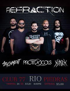 Refraction Debut Show @ Club 77 #sondeaquipr #refraction #attachment #kitsch #protocols #club77 #riopiedras #sanjuan