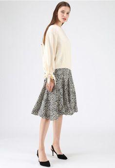 You Still Do Frilling Hem Leopard Cami Dress in Black brown S-M Crochet Tank Tops, Casual Skirt Outfits, Button Down Dress, Retro Dress, Cami Tops, V Neck Dress, Designer Wedding Dresses, Ladies Dress Design, Unique Fashion