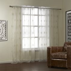 Dandelion Embrodiery Sheer Curtain  #sheer #sheercurtain #custommade #curtains #homedecor