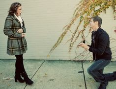 Surprise proposal during a photo shoot! So cute!
