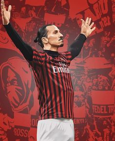 Football Art, Football Players, Chelsea Fc, Ibrahimovic Wallpapers, Liverpool Fc, Coco Costume, Milan Wallpaper, Ac Milan, European Soccer