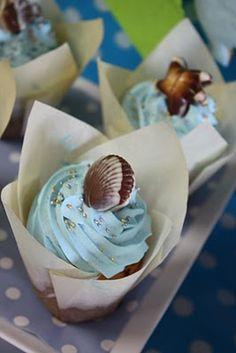 Blue Sea Cupcakes