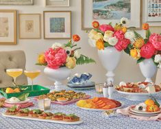 Colorful Cocktails, Southern Ladies, Make Ahead Breakfast, Huckleberry, Jewel Tones, Fall Season, Beautiful Interiors, Tablescapes, Floral Arrangements