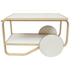 Alvar Aalto Designed Bar/Tea Cart 901 For Artek | From a unique collection of antique and modern bar carts at http://www.1stdibs.com/tables/bar-carts/