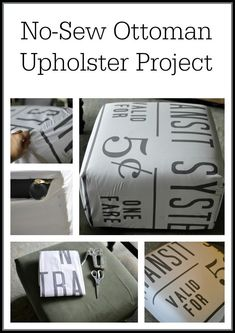 No-Sew Ottoman Upholster Project - this project is not only easy, it's cheap!