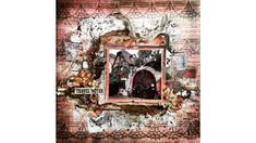 "Virag Reti - Mixed Media Scrapbook Tutorial - #7 - ""Vintage Wonderland"""
