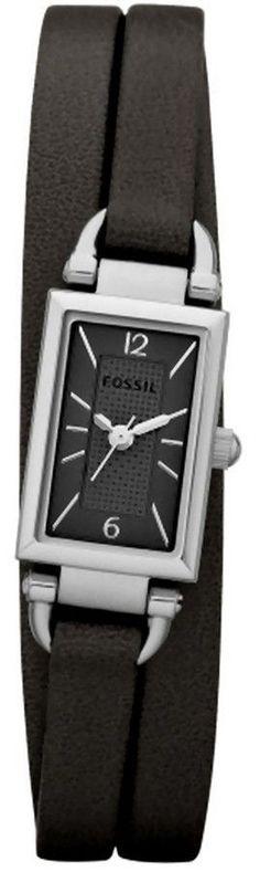 Montre pour femme : Fossil DELANEY BLACK LEATHER LADIES Watch JR1371 BY Fossil
