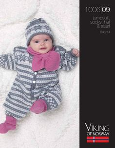 Baby Ull Jumpsuit, Socks, Hat & Scarf – 1006-09 | Knitting Fever Yarns & Euro Yarns