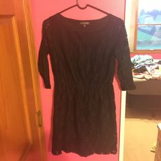 Black Lace Dress Lace on sleeves is sheer Tjmax Dresses