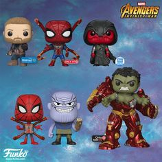 More Avengers Infinity War Pops and Vynl I Dont remember that Hulk part in the movie. Hulk, Funko Pop Figures, Pop Vinyl Figures, Spiderman Pop, Marvel Comics, Funko Pop List, Avengers Girl, Marvel Avengers, Disney Pop