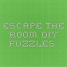 Escape the Room DIY puzzles