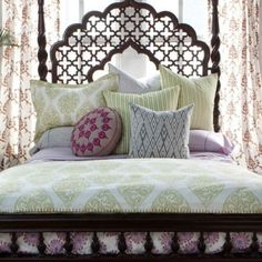 That headboard #Moroccan #bedroom Apartment Therapy