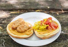 #Vegan Crispy Chicken Burger w/ Pepperoncini, Tomatoes & @wayfarefoods Hickory-Smoked Cheddar-Style Cheese melt