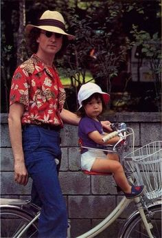♡♥Sean Lennon with his dad John Lennon - click on pic to see a full screen pic in a better looking black background♥♡