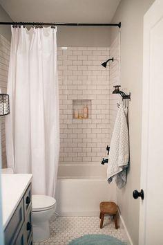 Rustic Farmhouse Master Bathroom Remodel Ideas Half Bathroom Ideas #halfbathroom #bathroom #smallbathroom #tinybathroom #halfbathroomideas