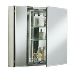 Medicine Cabinet for recessed space (Lowes: http://www.lowes.ca/medicine-cabinets/kohler-cb-clc3026fs-30-w-recessed-medicine-cabinet_9661961.html)