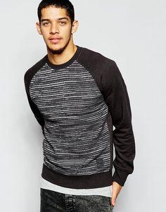 Homme Brave Soul Camo Knit Pullover Sweat Shirt M