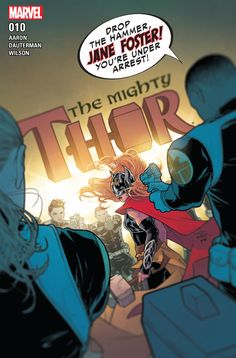 Mighty Thor (W) Jason Aaron (A/CA) Russell Dauterman. On top of battling cancer and the villainous team of the Exterminatrix and the Silver Samurai, now Jane Foster has a surprising new enemy with which to contend: S. Rated T+ Comic Books Art, Comic Art, Book Art, Marvel Comics, Jane Foster, Silver Samurai, Dc World, The Mighty Thor, Marvel Characters