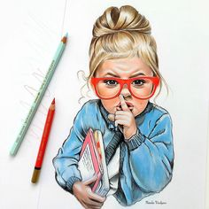 Pencil colour sketches of girl Amazing Drawings, Realistic Drawings, Beautiful Drawings, Cute Drawings, Animal Drawings, Colored Pencil Portrait, Color Pencil Art, Art And Illustration, Arte Fashion