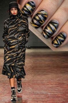 DKNY Fall 14 #nail #nails #nailart