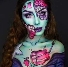 Pintura excelente para hallowen! #mujer #estilo #moda