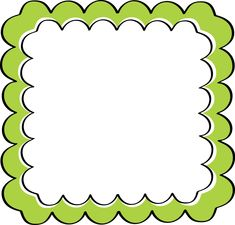 Green Scalloped Frame - free clip art
