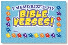 Memorized My Bible Verses Incentive Punch Cards
