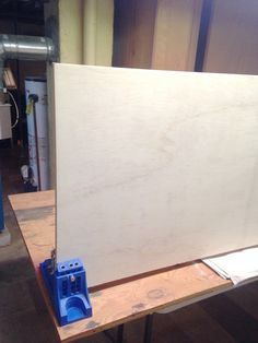 Building a fridge surround -- Plaster & Disaster Refrigerator Cabinet, Built In Refrigerator, Blue Kitchen Cabinets, Diy Cabinets, Plaster, Kitchen Remodel, Things To Think About, Kitchen Design, Building