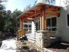 porch - Anchorage Builders.  North Carolina passive house