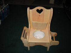 Country Style Handcrafted Potty Chair by CraftsByGeorge on Etsy