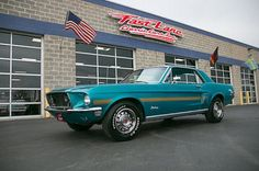 1968 Ford Mustang 1968 Mustang California Special Factory A/C Factory Gulfstream Aqua Mustang California Special, Mustang Emblem, Ford Mustang Shelby Cobra, Classic Mustang, Old Race Cars, Pony Car, Ford Motor Company, Aqua, Cool Cars