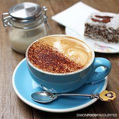 Cappuccino ($3.50) at Cabrito Coffee Traders, CBD Sydney. And the boys are cute too :p