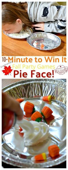 Over 10 Easy Minute to Win It Games that are Kid Friendly with a Fall Theme. These Thanksgiving Party games are perfect for kids, teens and adults. The whole family will enjoy these hilarious Thanksgiving or Fall Games to Play with Kids. www.kidfriendlythingstodo.com #familythankgsivinggames #thanksgivingpartygamesforkids #thanksgivingfungamesforkids #thanksgivingschoolgames #easythanksgivinggamesforkids