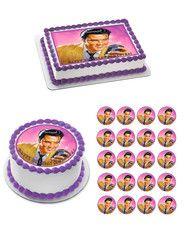 Elvis Presley Edible Birthday Cake OR Cupcake Topper – Edible Prints On Cake (EPoC)