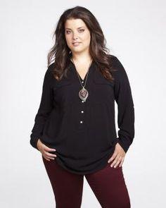 challis tunic blouse | Shop Online at Addition Elle
