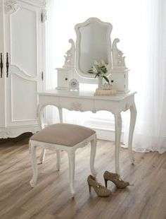 idée déco pour chambre à coucher : coiffeuse baroque Plus