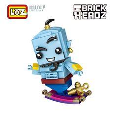 LOZ Micky Mouse Super Man Diamond Mini Building Micro Block Brick Headz Basep...