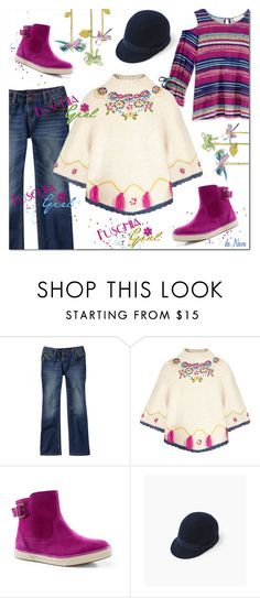 """Affordable Girl's Fashion"" by deneve ❤ liked on Polyvore featuring Lands' End, children, childrenfashion and childrenwear"