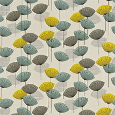 Sanderson fabric dandelion clocks
