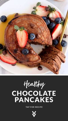 Choco Chips, Mini Chocolate Chips, Chocolate Chocolate, Freeze Pancakes, Tasty Pancakes, Healthy Chocolate, Delicious Chocolate, Healthy Waffles, Pancake Toppings