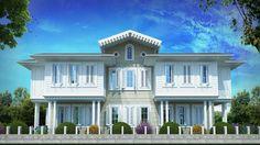 mimari görselleştirme Mansions, House Styles, Home Decor, Decoration Home, Manor Houses, Room Decor, Villas, Mansion, Home Interior Design