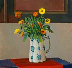 Veikko Vionoja: Kukkia maljakossa, 1976, öljy, 53x56 cm - Hagelstam K134