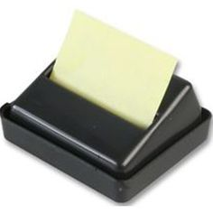 Q-Connect Executive Black Z-Note Dispenser KF21672 Sticky Pads, Connect, Office Supplies, Soap, Black, Black People, Bar Soap, Soaps