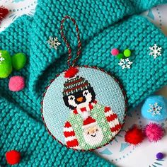 Tacky Sweater Party Penguin Kit Needlepoint Kits, Needlepoint Canvases, Tacky Sweater, Nativity Ornaments, Cute Penguins, Hand Painted Canvas, Xmas Holidays, Hanging Signs, As You Like
